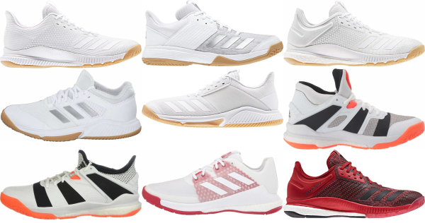 buy white adidas volleyball shoes for men and women