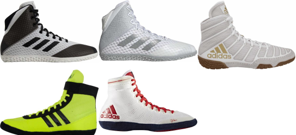 buy white adidas wrestling shoes for men and women