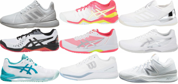 buy white all court tennis shoes for men and women