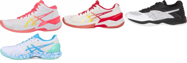 buy white asics flytefoam volleyball shoes for men and women