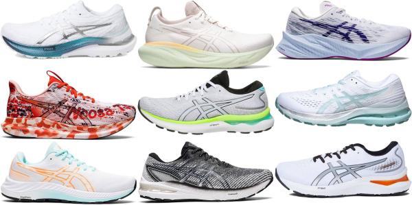 buy white asics running shoes for men and women
