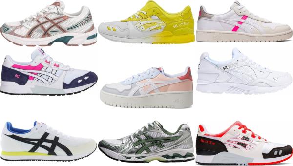 buy white asics sneakers for men and women