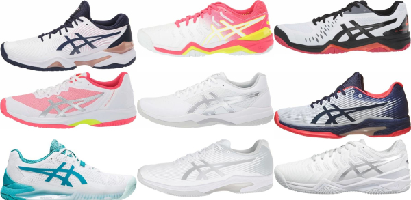 buy white asics tennis shoes for men and women
