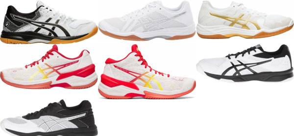 buy white asics volleyball shoes for men and women