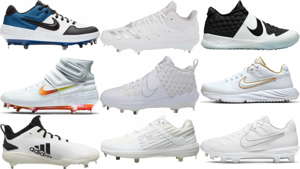 buy white baseball cleats for men and women