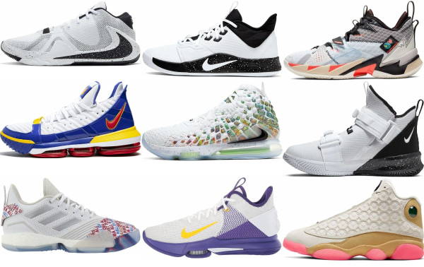 buy white basketball shoes for men and women