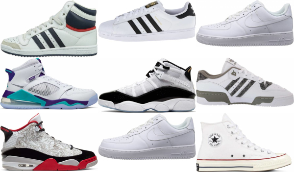 buy white basketball sneakers for men and women