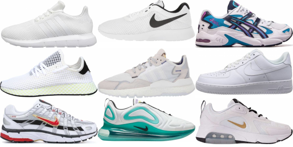 buy white breathable sneakers for men and women