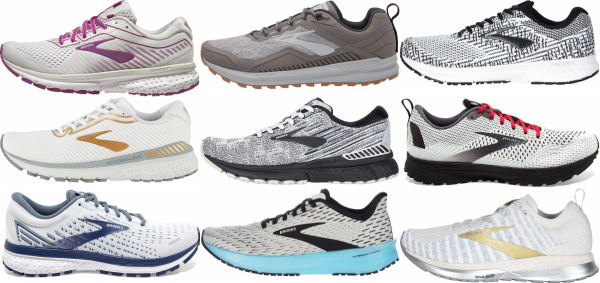 buy white brooks running shoes for men and women