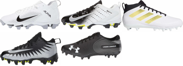 buy white cheap football cleats for men and women