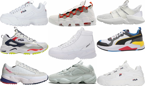 buy white chunky sneakers for men and women