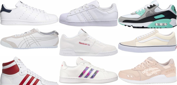 buy white classic sneakers for men and women