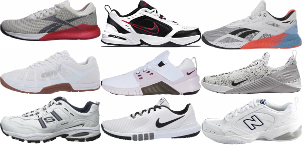 buy white cross-training shoes for men and women