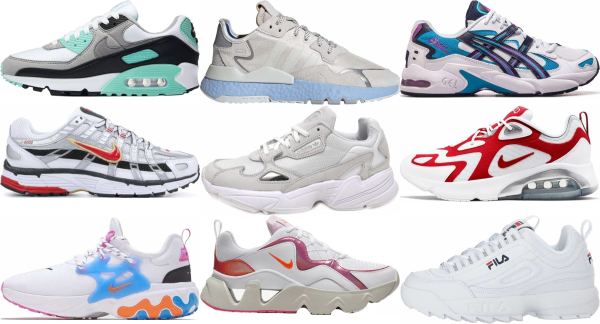 buy white dad sneakers for men and women