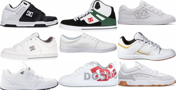 buy white dc sneakers for men and women