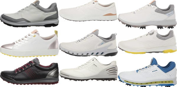 buy white ecco golf shoes for men and women