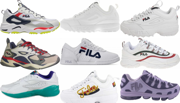 buy white fila sneakers for men and women