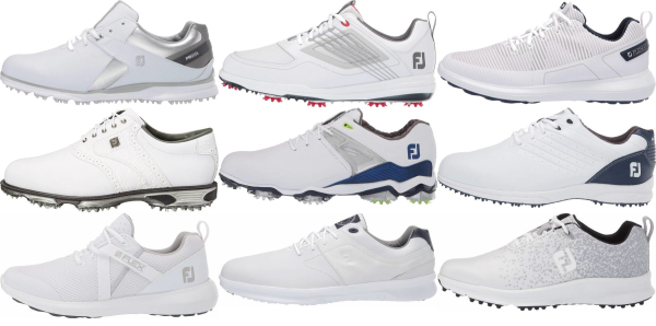 buy white footjoy golf shoes for men and women
