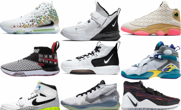 buy white high basketball shoes for men and women