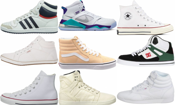 buy white high top sneakers for men and women