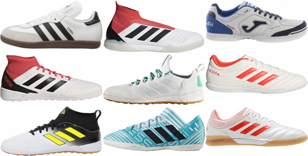 buy white indoor soccer cleats for men and women