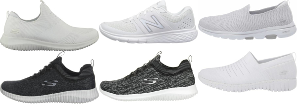 buy white knit upper walking shoes for men and women
