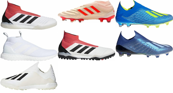 buy white laceless soccer cleats for men and women