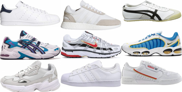 buy white leather sneakers for men and women