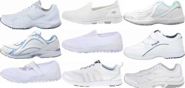 buy white lightweight walking shoes for men and women