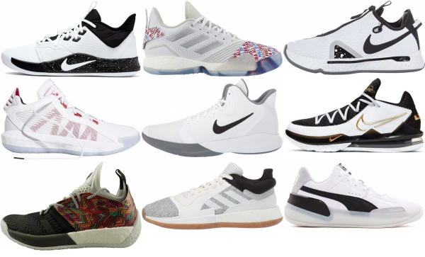 buy white low basketball shoes for men and women