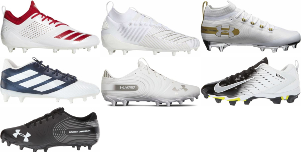 buy white low football cleats for men and women