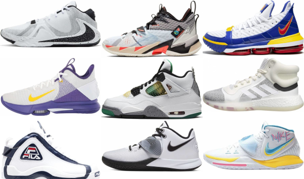 buy white mid basketball shoes for men and women