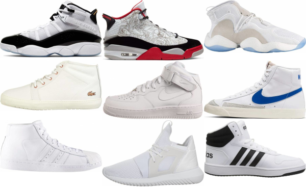 buy white mid top sneakers for men and women