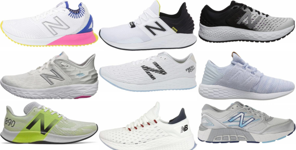 buy white new balance running shoes for men and women