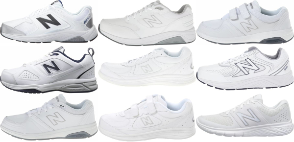 buy white new balance walking shoes for men and women