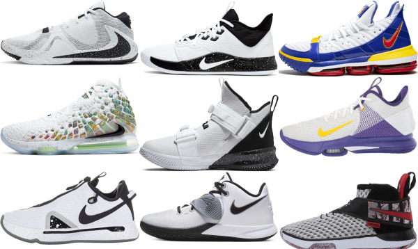 buy white nike basketball shoes for men and women