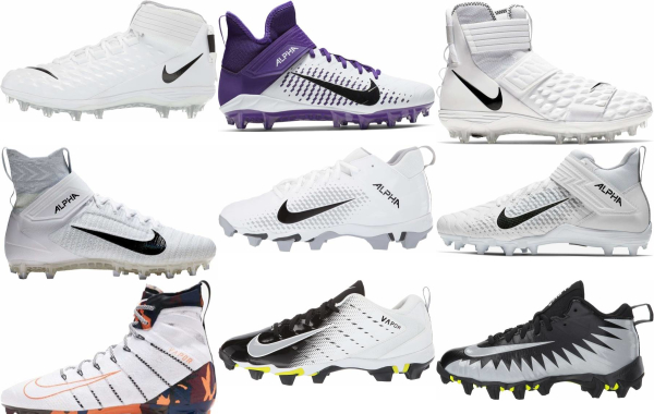 buy white nike football cleats for men and women