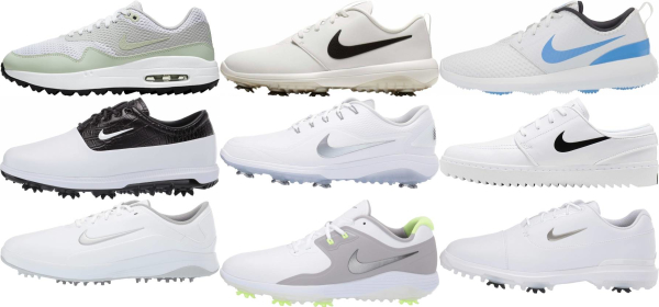 buy white nike golf shoes for men and women