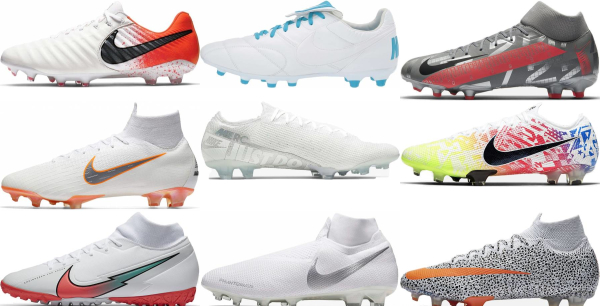buy white nike soccer cleats for men and women