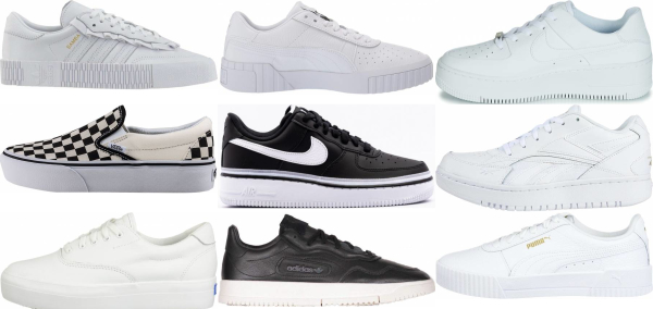 buy white platform sneakers for men and women