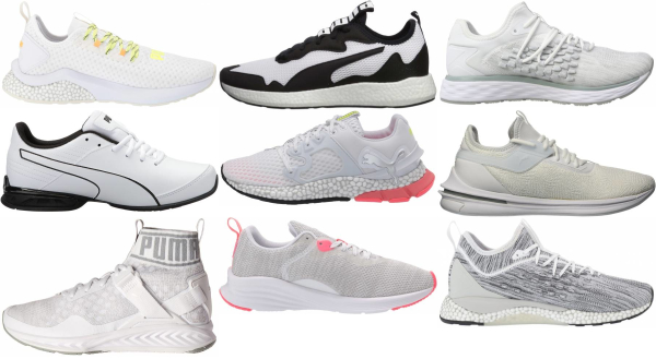 buy white puma running shoes for men and women