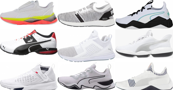 buy white puma training shoes for men and women