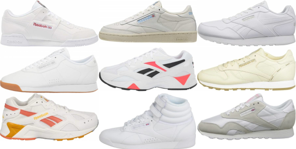 buy white reebok sneakers for men and women