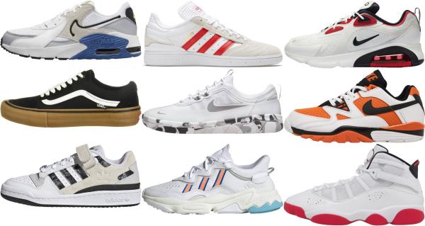buy white retro sneakers for men and women