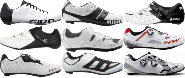 buy white road cycling shoes for men and women