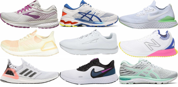 buy white running shoes for men and women