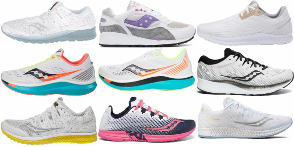 buy white saucony running shoes for men and women