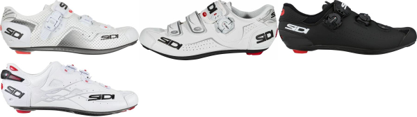 buy white sidi cycling shoes for men and women