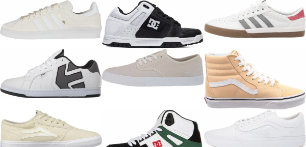 buy white skate sneakers for men and women