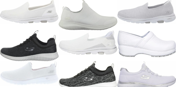 buy white skechers walking shoes for men and women